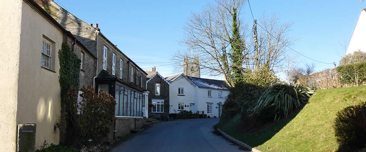 The village of St Mabyn in Cornwall